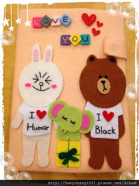 [不織布手作物]--熊大&兔兔立體卡片