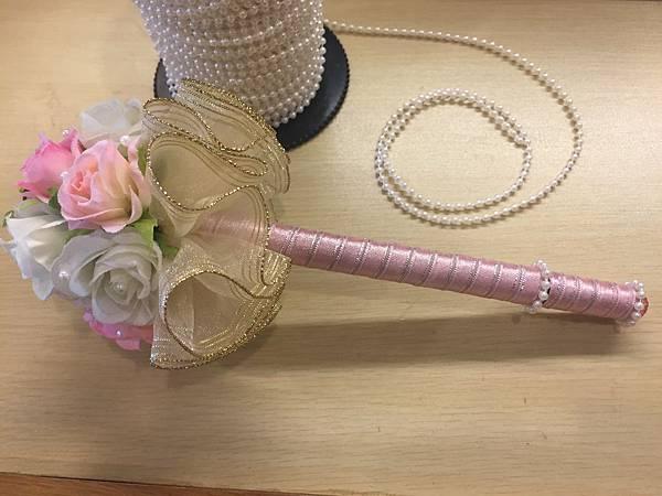 [婚禮小物]--浪漫風玫瑰花球簽名筆 013.jpg