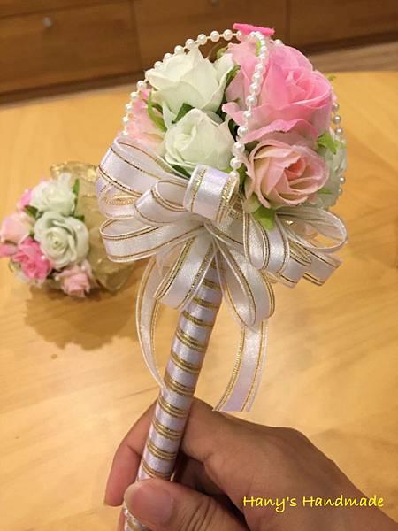 [婚禮小物]--浪漫風玫瑰花球簽名筆 027.jpg