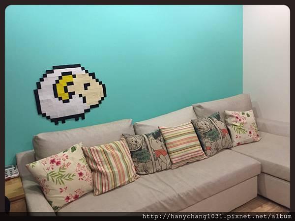 [愛拼貼]--完成品在我家牆壁上.JPG