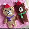 小情侶泰迪熊