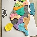 台灣地圖拼圖板