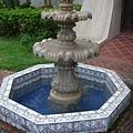 歐式風格的噴水池