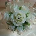 簽名筆--白色花球