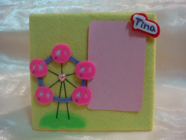 [不織布]--摩天輪相框,可以放相片當卡片!