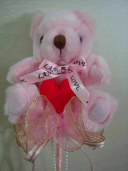 [小熊花束]--粉紅+愛心!!