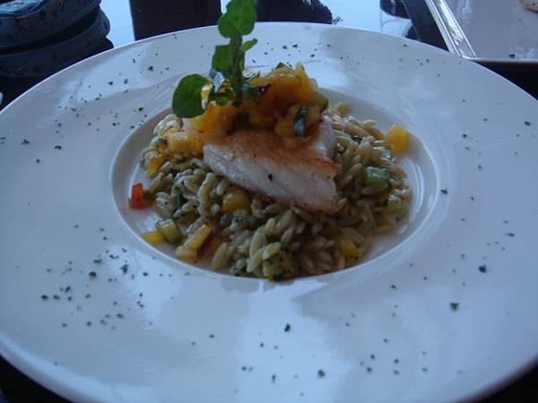 鱈魚米型義大利麵