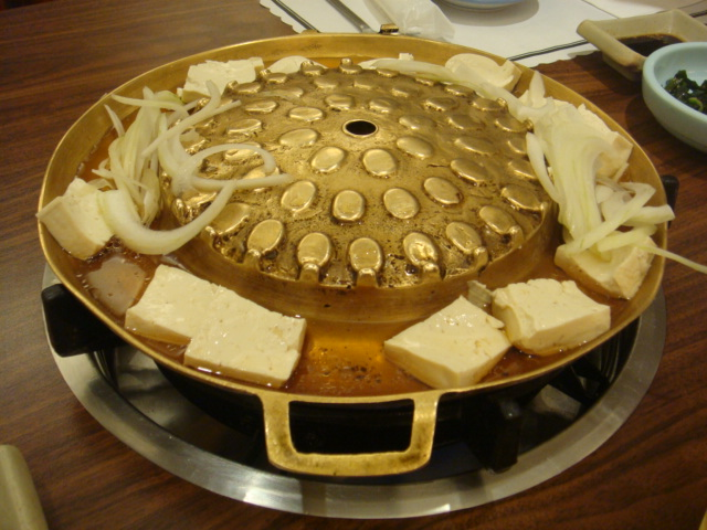 [高麗棒]--必點黃銅盤烤肉(基本配料有洋蔥、豆腐)