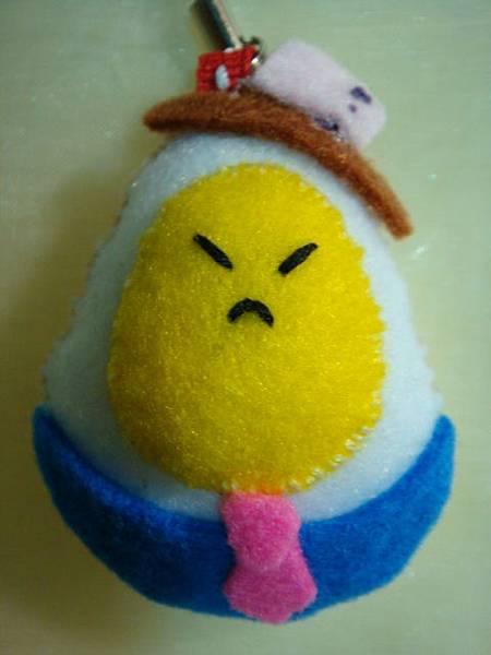 [不織布手作物]--看起來不太爽的紳士蛋