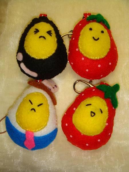[不織布手作物]--蛋蛋家族