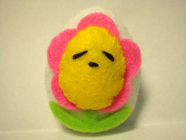 [不織布手作物]--小花蛋