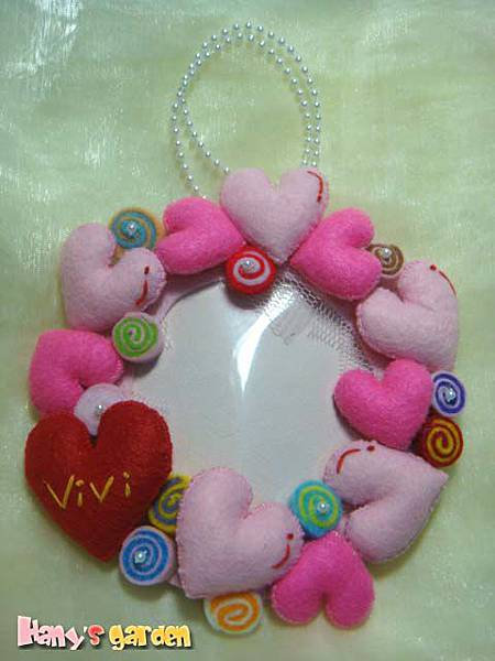 [不織布小物]--珍珠鏈當吊飾