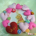 [不織布小物]--愛心糖糖門牌圈