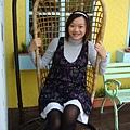 餐廳外的搖椅