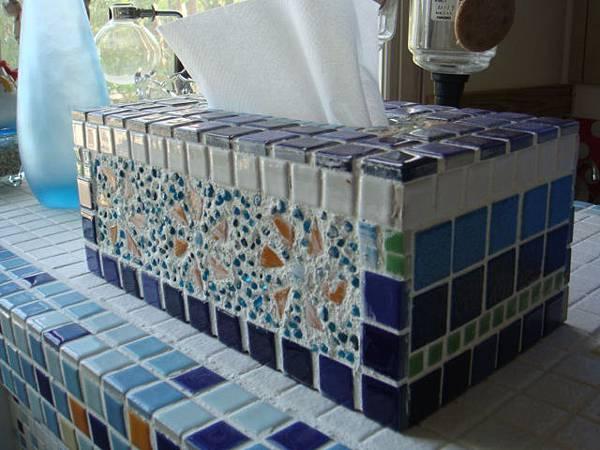 馬賽克磚拼貼面紙盒