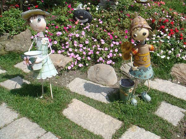 『南投的歐莉葉荷』--庭院裡到處都有可愛的擺設
