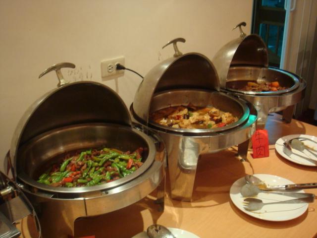 飯店提供的晚餐