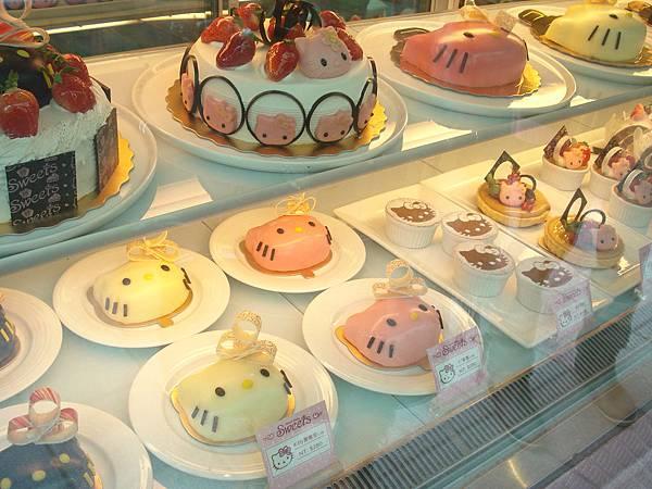 櫥窗的凱蒂蛋糕
