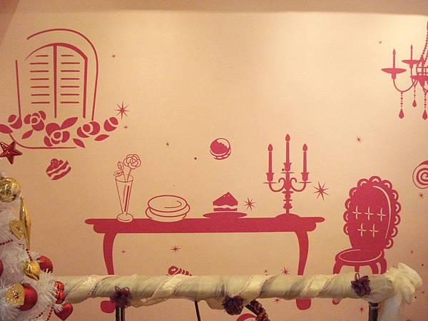 牆上有這樣的圖真的很可愛