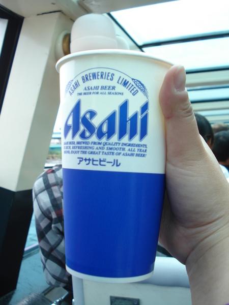 這是asahi在這艘船上的限量啤酒