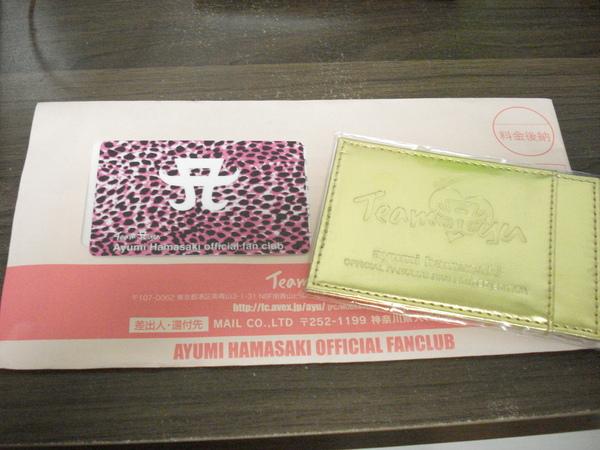 收到teamayu的會員卡了!開心