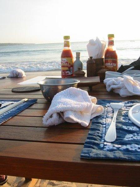 金巴蘭海鮮超正的,氣氛棒呆