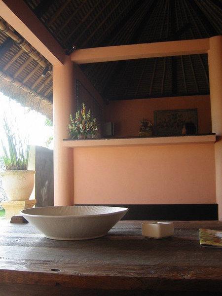 這是在villa的小小接待處
