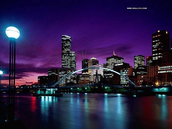 澳洲墨爾本夜景