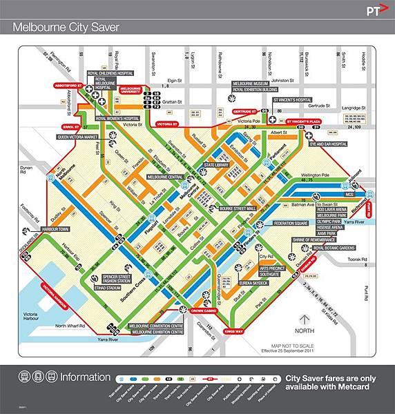 墨爾本地鐵圖1