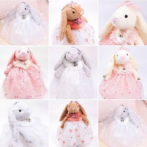 可愛邦尼兔兔婚紗禮服造型