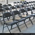 黑色折疊椅