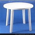 白色休閒桌