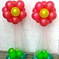 花朵氣球柱