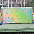 TRUSS舞台背板+笑臉花氣球柱