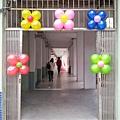 入口氣球花佈置