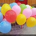 繽紛空飄氣球束