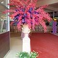 E04A04 鮮花羅馬柱-大紅大紫1