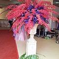 E04A04 鮮花羅馬柱-大紅大紫2