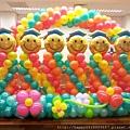 H02B43 陽光畢業氣球柱牆1