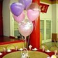 婚紗熊+空飄氣球