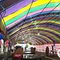 會場氣球佈置半圓式帳篷