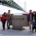連接神戶和淡路島之間的【明石海峽大橋】