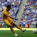 切爾西8號Lampard一腳勁射破網,爲球隊攻下致勝的第二分