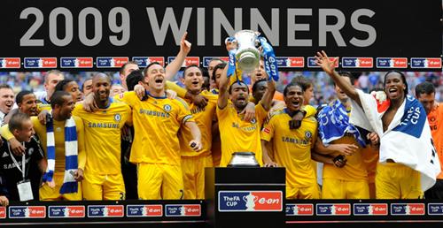 98.5英國足總盃冠軍切爾西慶賀五度奪冠