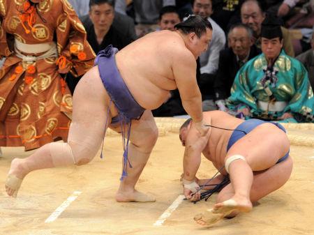 20101121 38歲的大關魁皇 7連勝,摔倒豐真將.jpg