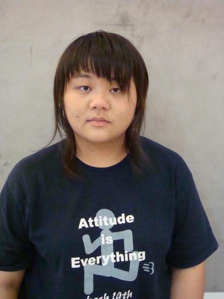 陳琳燙髮前的樣子