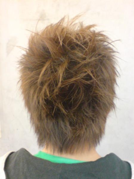 小球剪髮後背面