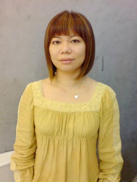 王美娟染髮後整體