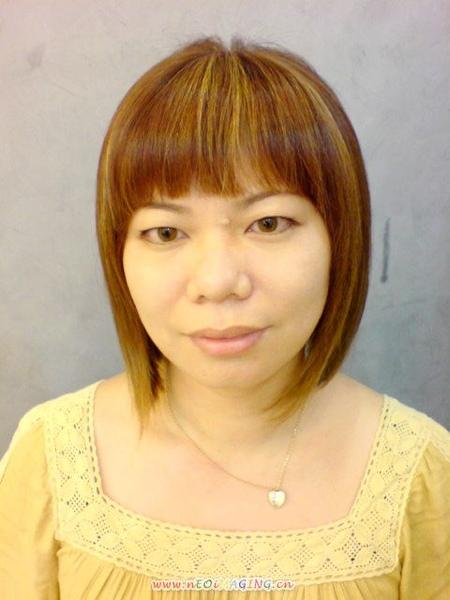 王美娟 染髮後正面