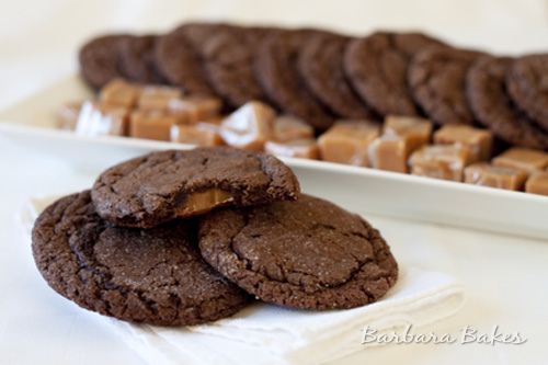 Chocolate-Nutella-Caramel-Filled-Cookies
